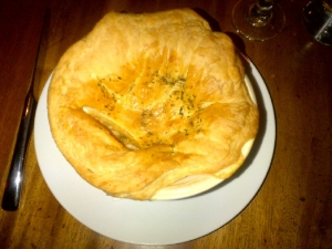 Chicken Pot Pie with Fois Gras Gravy