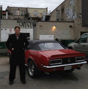 Standing beside Guy's Camaro during DDD filming in Toronto.