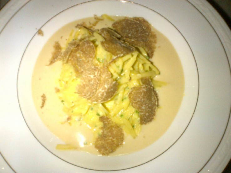 Potato Pasta with White Truffle
