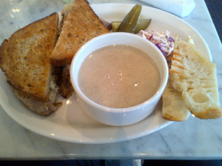 The Hogtown Reuben with Mushroom Soup