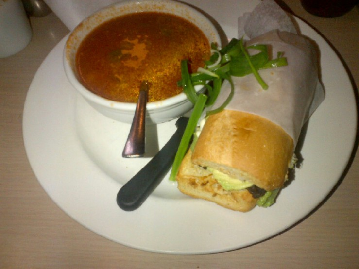 Tortita-Gordita Dandwich with Soup