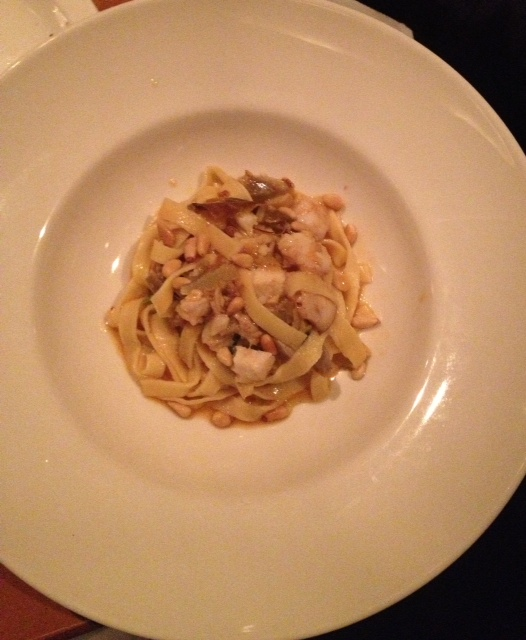 Tagliatelle with Octopus and Pine Nuts  $16