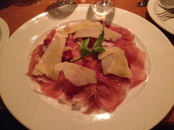Zucca Prosciutto with Cactus Pear and Parmigiano ($16)