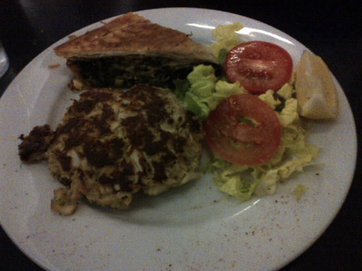 Crab Cake and Spanakopita Combo