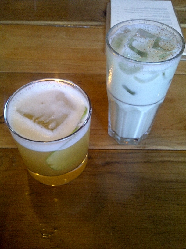 Cider Sour and Chocolate Mint Almond MIlk Shake