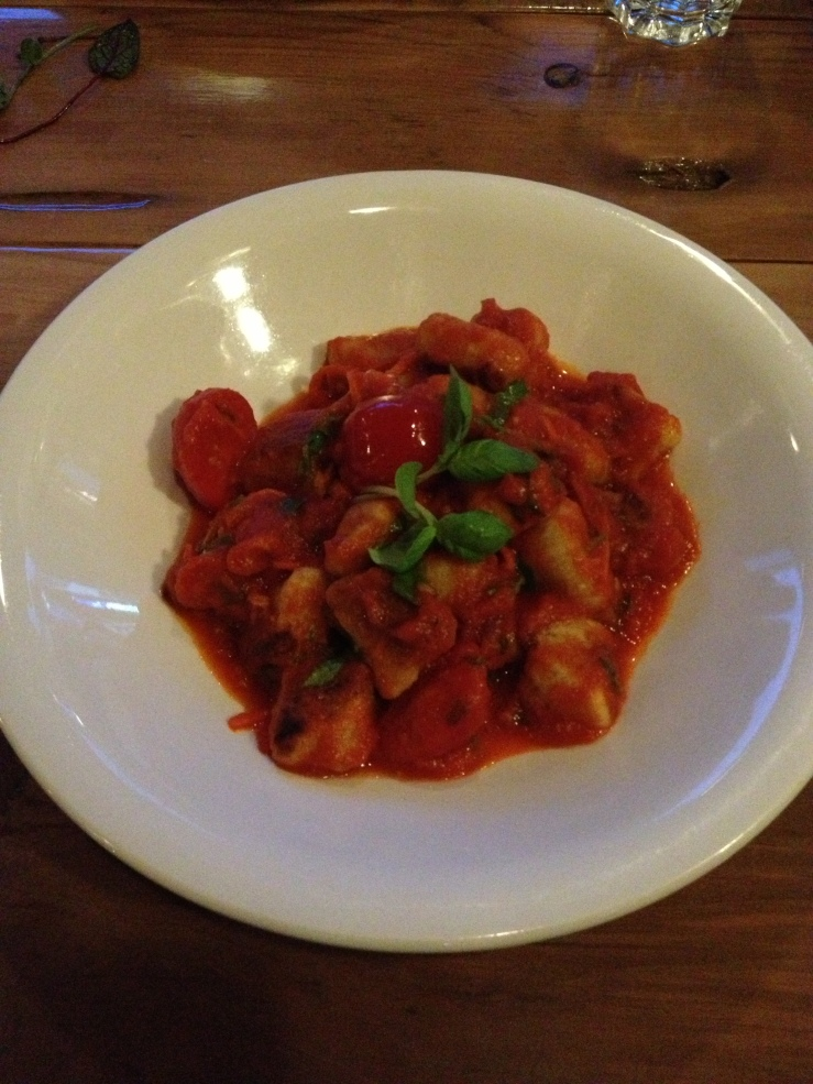 Not on the menu gnocchi $16