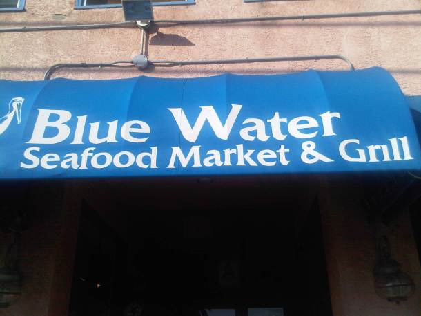 Blue Water Sign