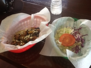 Tacos al pastor and BIG and Little's tacos- $4 and $3.50