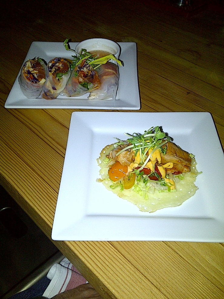 Tuna Rolls and Pork Belly Cheese Thang $