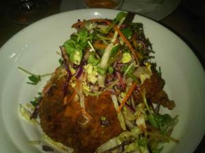 "Fried Chicken ""a la Basque"" $21"