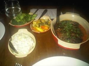 Flank Steak, Potato Salad, Broccoli and Carrots