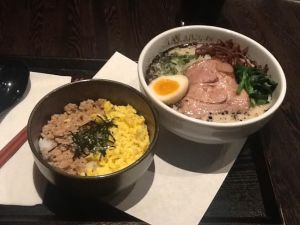 Shio Ramen and Soboro Don (part of $11.95 lunch special)