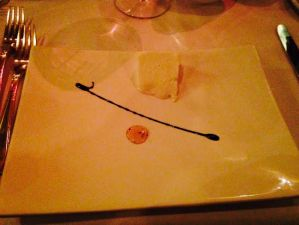 Amuse Bouche- Cheese with Balsamic and Honey
