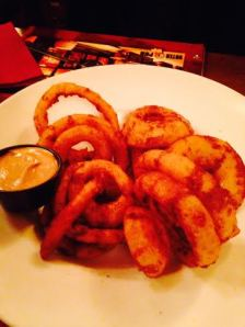 Black and Tan Onion Rings $13