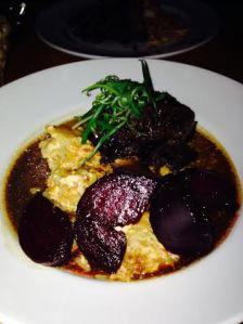 Short Ribs with Potatoes Gratin and Beets $30