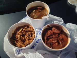 Gumbo ($5.25), Jambalaya   ($4.95) and Rice and Beans ($4.95)