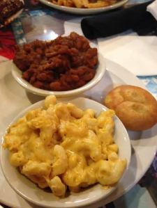 Mac and Cheese and side of beans