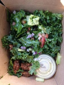 Kale Salad with Falafel $7
