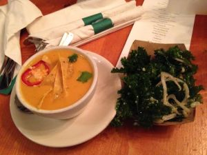 Chicken Tortilla Soup $3 and Kale Salad $3