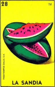 La Sandia Loteria Card