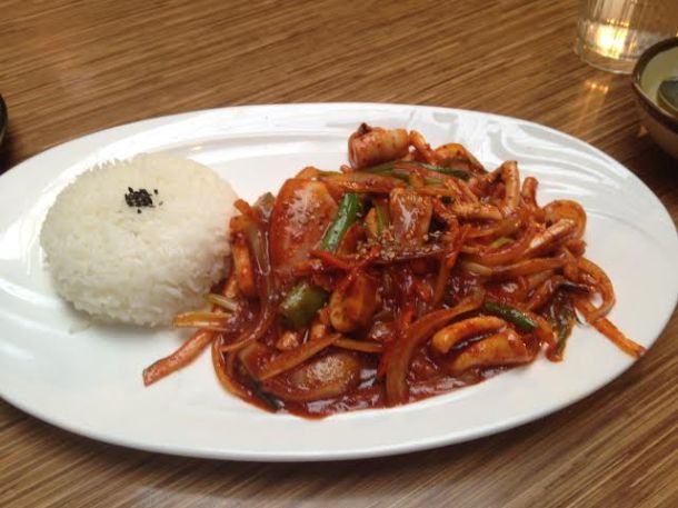 Spicy Squid and Rice $9.95