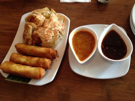 Spring Rolls and Roti Canai