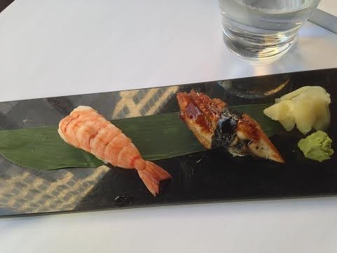 Shrimp and Eel Nigiri ($3.95 and $5.30 respectively)