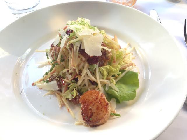 Apple Chopped Salad ($12.95) with a $5 scallop