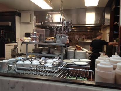 Rail view of kitchen