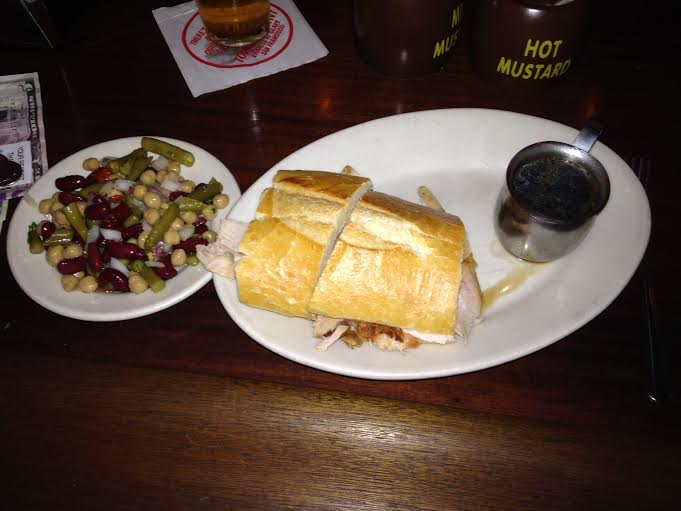 Turkey Sandwich $6 with Pickled Bean Salad $2.65