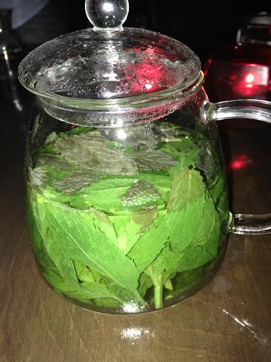 A real cup of mint tea