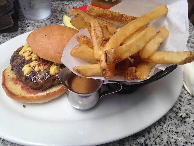 Peppercorn Burger with Fat Fries $17.25