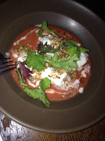 Burrata and Strawberry Gazpacho