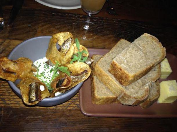 Sardine Chips and Levain Bread