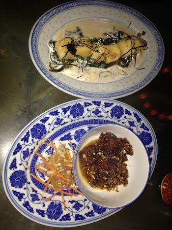 Silken Tofu $11and Sweet and Sour Pork Hock $13