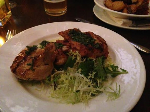 JW Chicken $24 with Herb Garden and Salsa Verde