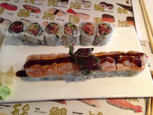 Japango Roll ($13) and Crunchy Spicy Tuna Roll ($9)