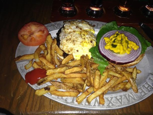 $6.99 Burger Platter with a $2 egg