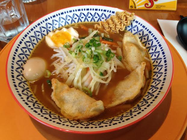 Mandu Ramyun $8.95 plus $1.00 for egg (pork belly missing)