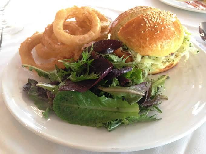 Fried Chicken Sand wich with rings $16