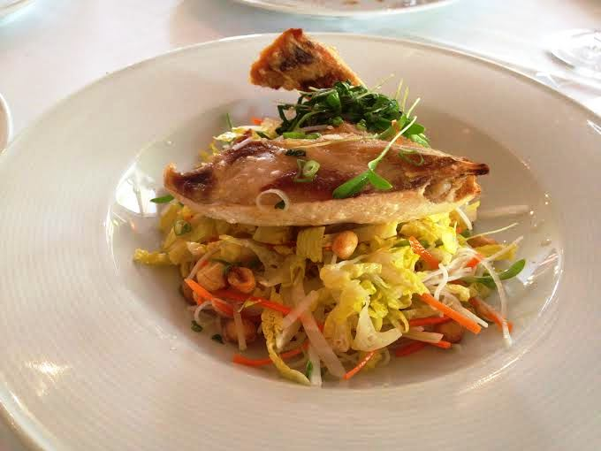 Hamachi Collar with Slaw