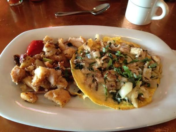 Mushroom, Onion and Parmesan Frittata with Potatoes and toast (not shown) $11.95