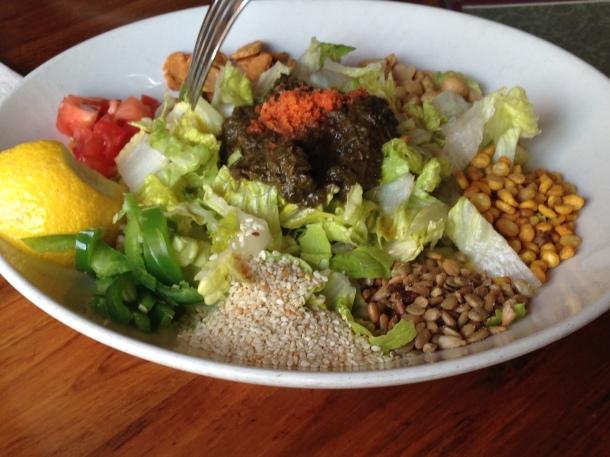 Tea Salad- Before