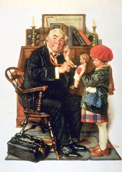 Norman Rockwell's Doctor and the Doll