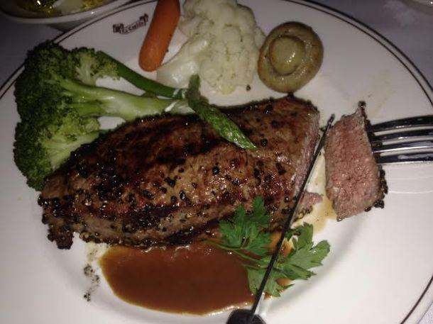 La Castille Peppercorn Steak $44
