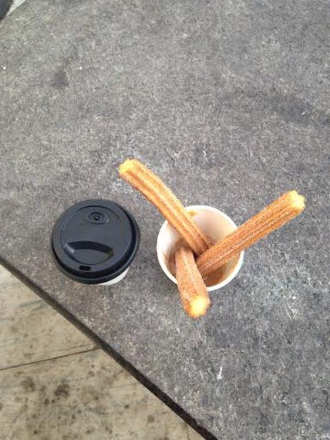 Americano ($3) and Churros ($4)