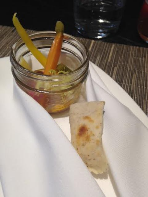 Mason Jar (Pickled Veg with Fois Gras Mousse)