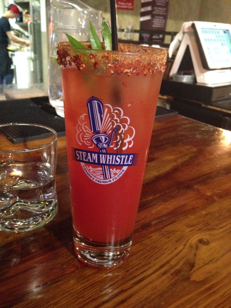 Caesar on fire with Jalapeno Soju $11