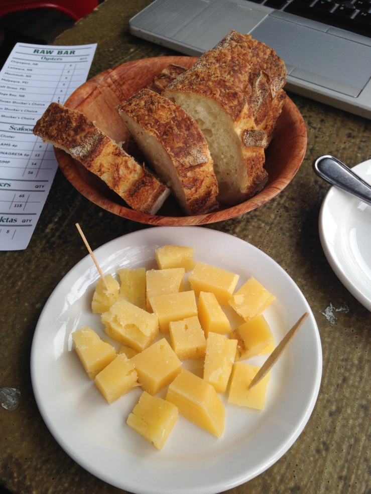 Aged Mahon Cheese $8 with Bread $2
