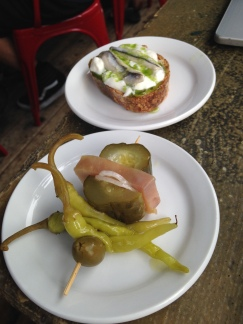 Stracciatella with Boquerones and Tuna Pickle Gilda